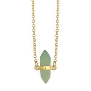 Aventurine geo pendant necklace